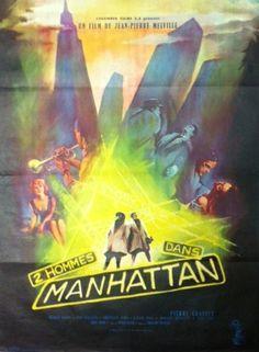 affiche originale de 1959.  60x80 cm...superbe film de Jean-Pierre Melville .. Manhattan, Film, Melville, Movies, Movie Posters, Art, Event Posters, Movie, Films