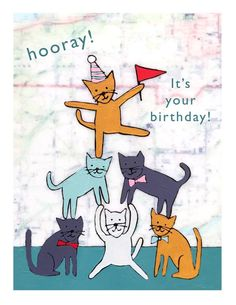 Happy Birthday Pictures, Happy Birthday Funny, Happy Birthday Messages, Happy Birthday Greetings, Birthday Greeting Cards, Humor Birthday, Birthday Quotes, Cat Birthday Wishes, Card Birthday
