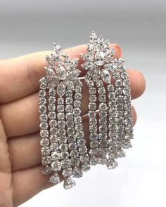 Diana M. Jewels. Diamond chandelier earrings with 36.00 cts