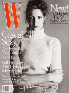 W Magazine's Supermodel Cover Girls - Stephanie Seymour on the cover of W Magazine August 1998