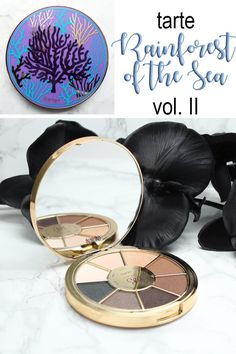 Tarte Rainforest of the Sea Eyeshadow Palette Vol. II - cruelty free makeup review, look, swatches on fair skin