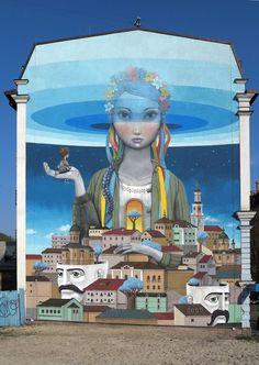 Kiev, Ucraina, aprile 2014, in collaborazione con Kislow Seth street artist Miami, Florida, dicembre 2013 (©Julien Seth)