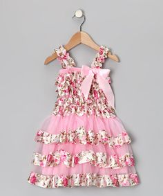 Take a look at this Pink Flower Ruffle Dress - Infant, Toddler & Girls by Tutu AND Lulu on #zulily today!