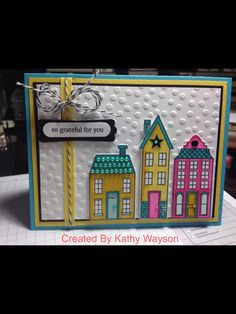 Holiday Home - Stampin' Up!  Love the non-Christmas feel, but don't think we need to go all the way to hot pink.  Hmm.