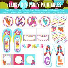 Flip Flops  https://www.facebook.com/pages/ICandy-DIY-Party-Printables/222496837783690