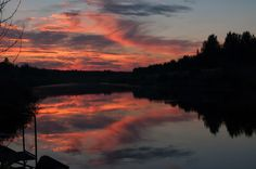 sunset in reflection - Stitched Panorama