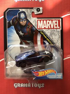 Captain America 2020 Hot Wheels Marvel Character Cars Mix A - Grana Toys Marvel Series, Marvel Characters, Hot Wheels, Captain America, Boy Or Girl, Cars, Autos, Car, Automobile