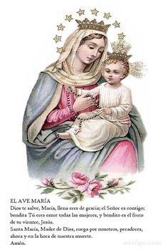 #OracionCristiana del Ave María, oración católica dedicada a María la madre de Jesús en la que requerimos su piedad y le solicitamos que interceda por nosotros