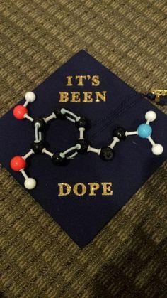 Dopamine graduation cap - Decoration For Home Graduation Cap Designs, Graduation Cap Decoration, Graduation Diy, Graduation Photoshoot, Biology Major, Science Biology, Science Fun, Grad Hat, Cap Decorations