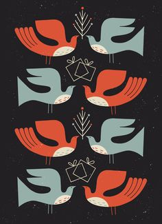 birds I've got some sweet new designs just in time for holiday cards this season! If you wou...