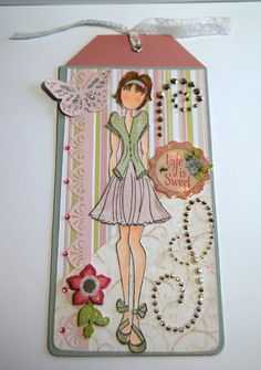 Prima Doll Tag Life is Sweet Handmade Paper Tag by Smiles4Paper, $6.00
