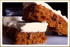 Pumpkin Squares with GODIVA White Chocolate Cream Cheese Frosting