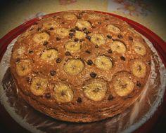 Torta ciobar&cocco con banana e gocce di cioccolato