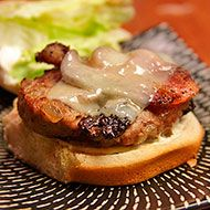 Morel-Bison Burgers: Lean, low-fat ground bison gets a flavor boost and moist, juicy texture from reconstituted dried morel mushrooms. With so few calories & fat, you can even afford to top your burger with some good, old-fashioned country bacon and Swiss cheese