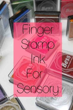 Finger stamps are a great way for kids to connect and create art while enjoying a nice fun sensory activity.