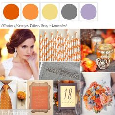 Orange wedding palettes. Search by any color.