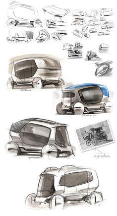 My aim was to create a driverless mobility vehicle for mega-city centers. The basic idea was to catch the ellegance and coolness of the old carriages and define a new experience for a taxi service. Car Design Sketch, Car Sketch, Supercars, Ecole Design, Smart Car, City Car, Futuristic Cars, Transportation Design, Automotive Design