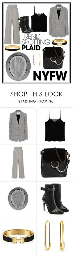 """""""NEW TREND: PLAID"""" by simonautiero ❤ liked on Polyvore featuring self-portrait, MANGO, Casasola, Chloé, Off-White, Bling Jewelry, Halcyon Days, contestentry and NYFWPlaid"""