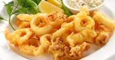 Fried Calamari Antipasto, an Authentic Italian Recipe from our kitchen to yours. An enticing antipasto with light and crispy fried calamari you won't be able to resist! Greek Recipes, Fish Recipes, Seafood Recipes, Italian Recipes, Greek Dishes, Italian Dishes, Italian Fried Calamari Recipe, Antipasto Recipes, Finger Foods