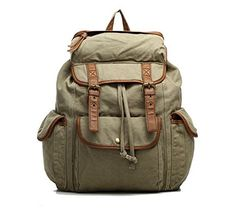 Men's Canvas Vintage Backpack Casual Rucksack Bookbag Outdoor Travel Hiking Camping SA6 ^^ Quickly view this special product, click the image : Backpacking gear