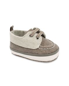 Wendy Bellissimo™ Jacques Soft Sole Deck Shoe in Taupe/Brown | Wendy Bellissimo