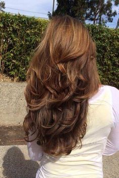 Long Wigs Lace Hair Frontal Long Red Wig Real Hair - ⭒ h a i r - Hair Styles 2016, Curly Hair Styles, Hair Cut Styles, Long Layered Haircuts, Layered Hairstyles, Long Hair Short Layers, Hair Layers, Medium Hairstyles, Haircuts For Long Hair With Layers