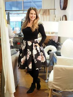 What Sonia Wore: Floral Midi Skirt - Sonia Styling