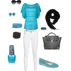 not a huge fan of white pants, but i'm really loving all the turquoise!