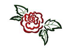 Free Embroidery Design: Rose - I Sew Free
