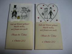 50 Gastgeschenke Taschentücher Hochzeit Freuden...