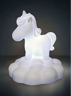 Magical Unicorn Color Changing Night Light by Streamline NYC Gifts, Home Decor, White