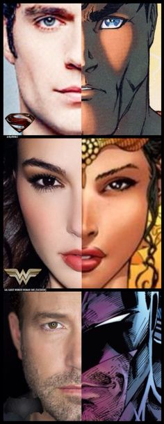 Doppelgängers Walk Among Us! Wow! Talk about being well cast! Henry Cavill as Superman, Gal Gadot as Wonder Woman and Ben Affleck as Batman! The DC Cinematic Universe lives!!