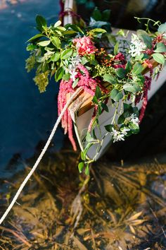floral row boat Photos by Hilary Cam Photography