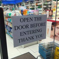 Or crash trough the door