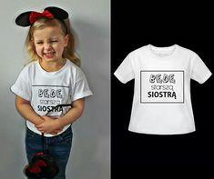 Koszulka dla córki Będę starsza siostra  www.jakamama.pl