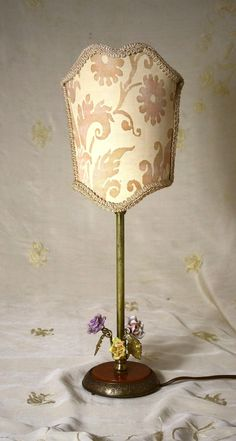 Exquisite FORTUNY Vintage Candlestick Lamp  Porcelain by LuxeLamps, $140.00
