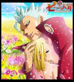 Nanatsu no Taizai ~ Ban (Sin of Greed) and Elaine (King's--Sin of Sloth--younger sister)