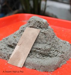 Make your own pyramid using moon sand - great for teaching some culture for Cinco de Mayo festivities