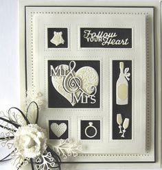 Good Sunday morning all!  I have an elegant wedding shadow box card for you today.  I started by cutting the Wedding shadow box  out of ...