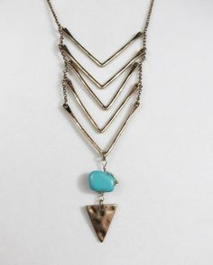 last one! Cowgirl Bling Western Hammered Chevron TURQUOISE Native Gypsy necklace set #city