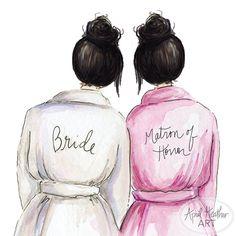 Matron of Honor PDF Download Black Bun Bride by aprilheatherart