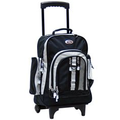 Backpack Rolling Bookbag With Reflective Tape (Awestruck) sturdy wheels Rolling Backpack, 18th, California, Backpacks, Purses, Unisex, Best Deals, Leather, Bags
