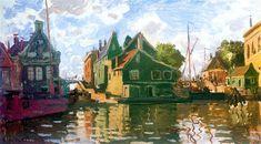 Zaandam, Canal, 1871 - Claude Monet - WikiArt.org