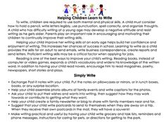 For Parents: How to Support Writing at Home