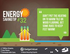 Energy Saving Tip 32 | 150+ Sustainability Resources | #WED2015 #7BillionDreams #Sustainability