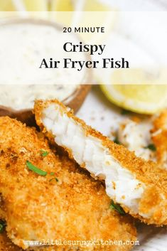 These golden fish fillets are cooked in the air fryer until crispy and delicious! Covered in a tasty crust, the fish remains soft and velvety from the inside. Ready in just 20 minutes! via fryer recipes healthy fish Crispy Air Fryer Fish Fillets Air Fryer Recipes Potatoes, Air Fryer Fish Recipes, Air Fryer Recipes Low Carb, Air Fryer Recipes Breakfast, Air Fry Recipes, Air Fryer Dinner Recipes, Cooking Recipes, Easy Recipes, Fish Recipe For Air Fryer