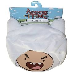 Wanna dress like Adventure Time with Finn and Jake's title human character? Well now you can! This excellent Adventure Time Deluxe Finn Hat looks exactly like the funny white hat that Finn wears over his mass of golden locks. Adventure Time Toys, Adventure Time Merchandise, Vinyl Figures, Action Figures, Finn Jake, Doll Costume, Geek Out, Beanie Hats, The Funny