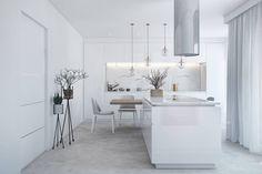 Reunimos 10 magníficas cozinhas totalmente brancas.