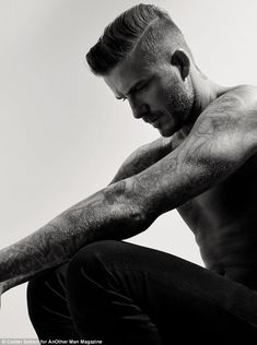 Hunky: David Beckham posed shirtless for a new photoshoot for AnOther Magazine which is su...