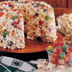 Popcorn Cake -  So Good - I remember mom making this when i was a kid.